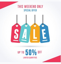 this weekend only special offer sale template vector image