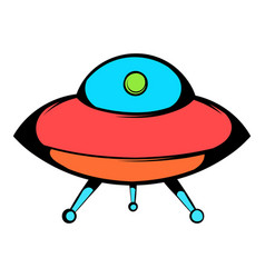 Ufo icon icon cartoon vector