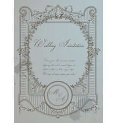 Vintage Wedding Card vector