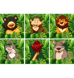 Wild animals in the bush vector