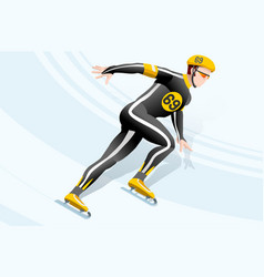 short track skating winter sports vector image