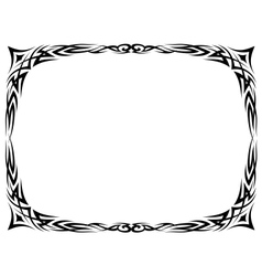 tattoo ornamental decorative frame vector image