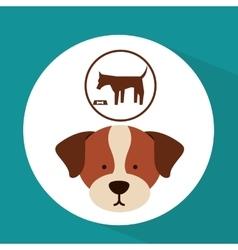 Veterinary dog care food icon vector