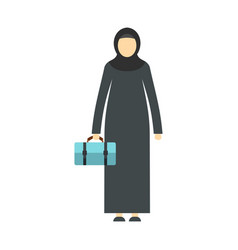 arabic woman icon flat style vector image