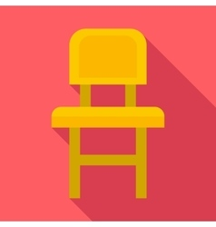 Chair icon flat style vector