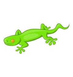 Green gecko lizard icon cartoon style vector image vector image