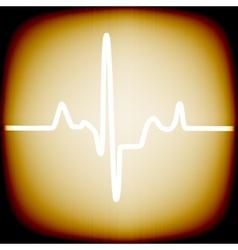 Heart rhythm vector image
