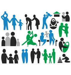 icons family vector image