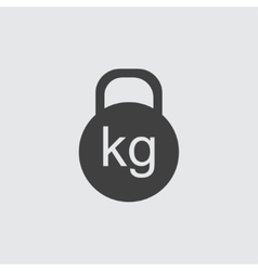 Kettle bell icon vector image