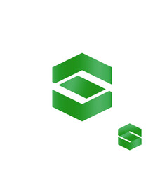 letter s abstract finance business logo green vector image