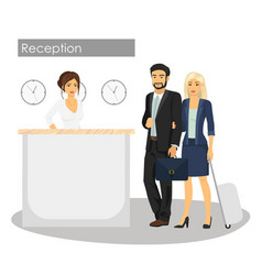 manager and customer at vector image