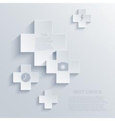 Modern cross background eps 10 vector