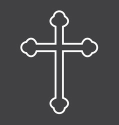 religion cross line icon easter and holiday vector image