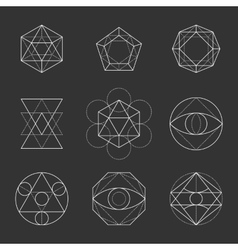 Sacred Geometry Shapes Spirituality Alchemy vector image