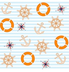 sea and nautical background vector image