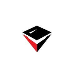 Sign of the letter V vector image