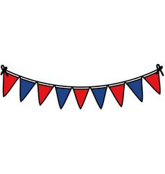 Celebration garlands usa party vector
