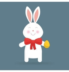 Cute Easter bunny isolated vector image