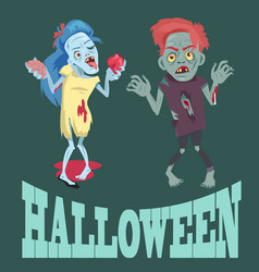 halloween and zombies images vector image vector image