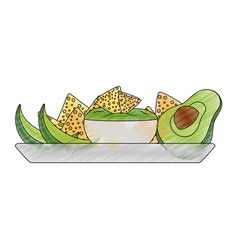 isolated nachos design vector image