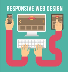 Responsive Web Design Connection vector image vector image