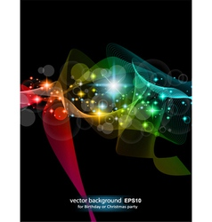abstract rainbow flow vector image