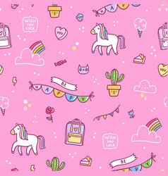 awesome stuff pattern vector image vector image