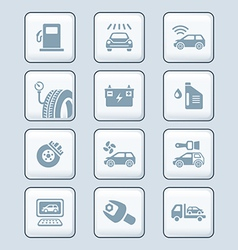 Car service icons - TECH series vector image vector image