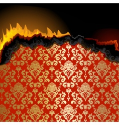 piece of burning paper vector image vector image