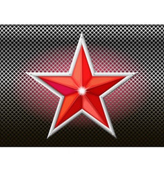 Red star background grid vector