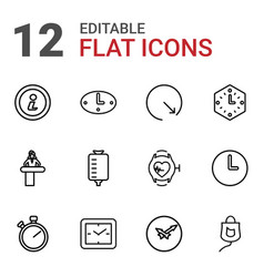 12 counter icons vector