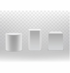 3d realistic geometrical shapes cylinder vector image