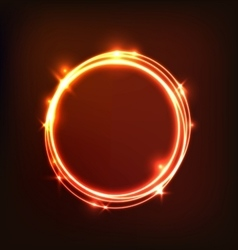 Abstract glowing orange background with circles vector image