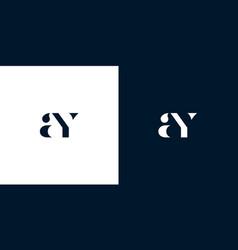Abstract letter ay logo vector