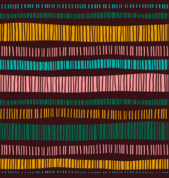 abstract tribal seamless pattern with stripes vector image