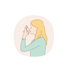 Asthma and inhaler concept vector