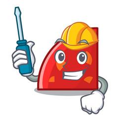Automotive quadrant mascot cartoon style vector