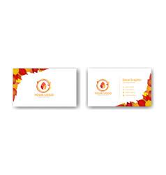 Autumn business card design template vector