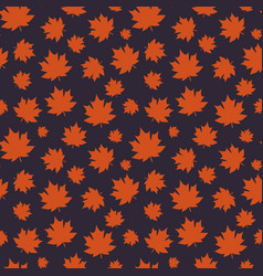 autumn seamless pattern with maple leaves on vector image
