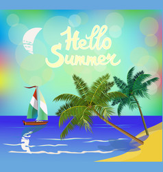 banner summer vacation and travel design vector image