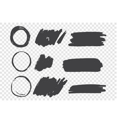 black paint scribble hand drawn doodles set vector image