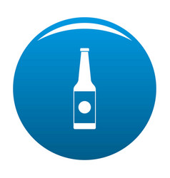 bottle water icon blue vector image