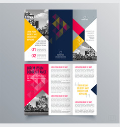 brochure design 1271 vector image