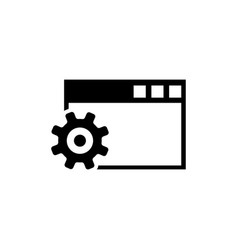 browser setup configure settings flat icon vector image