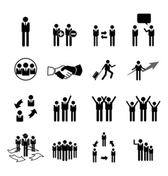 business icons vector image
