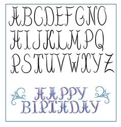 Calligraphy alphabet vector