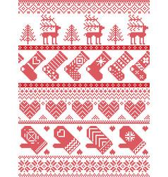 Christmas present snow star christmas tree vector