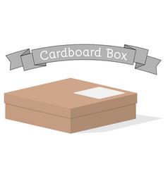 closed low cardboard box vector image
