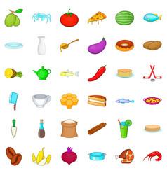 culinary icons set cartoon style vector image