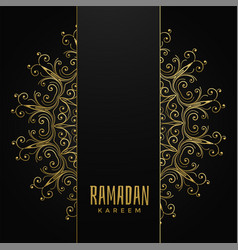 Decorative mandala design for ramadan kareem with vector